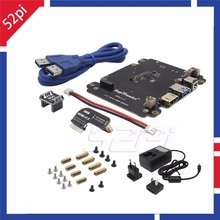 X820 2.5 inch SATA HDD/SSD Storage Expansion Board Kit with DC 5V 4A Power Adapter EU/US Plug for Raspberry Pi 3 Model B/ 2B /B+