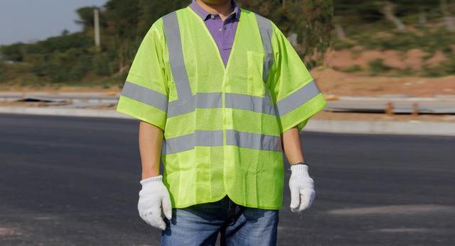 Reflexivo meshbreatable coletes interior com bolso de manga curta veste reflexiva da segurança do tráfego Rodoviário