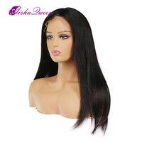4X4 шелк базы Full Lace парики бразильский Реми бесклеевой Шелковый топ Full Lace парики с ребенком волос предварительно сорвал натуральных волос