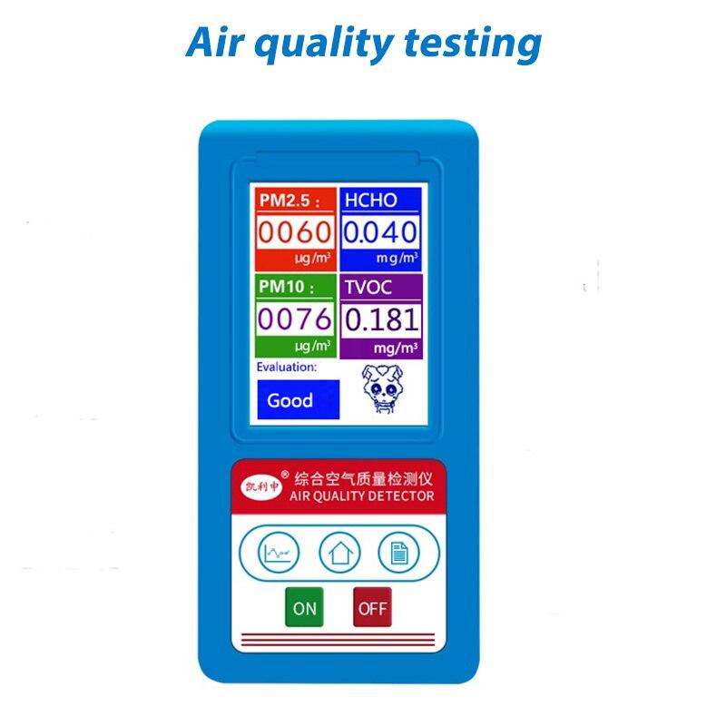 Anglais menu Formaldeyde HCHO PM1.0 PM2.5 PM10 Analyseur De Gaz TCOV Particules Détecteur Testeur Analyseur De Qualité De L'air