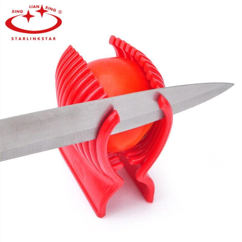 1pc tomato slicer red tomato holder slicer guide potato onion cutter fruit vegetable orange shredders slicers cutting holder
