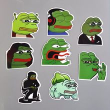 8pcs Sad Pepe the Frog Sticker pvc waterproof car-styling skateboards laptop sticker bike book car styling decor(China)