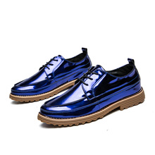 Brand Handsome Trendy Shiny Men Casual Shoes Glitter Toe Caps Exotic Comfy Walking Shoes Jogging Vintage Reflecting Gentle