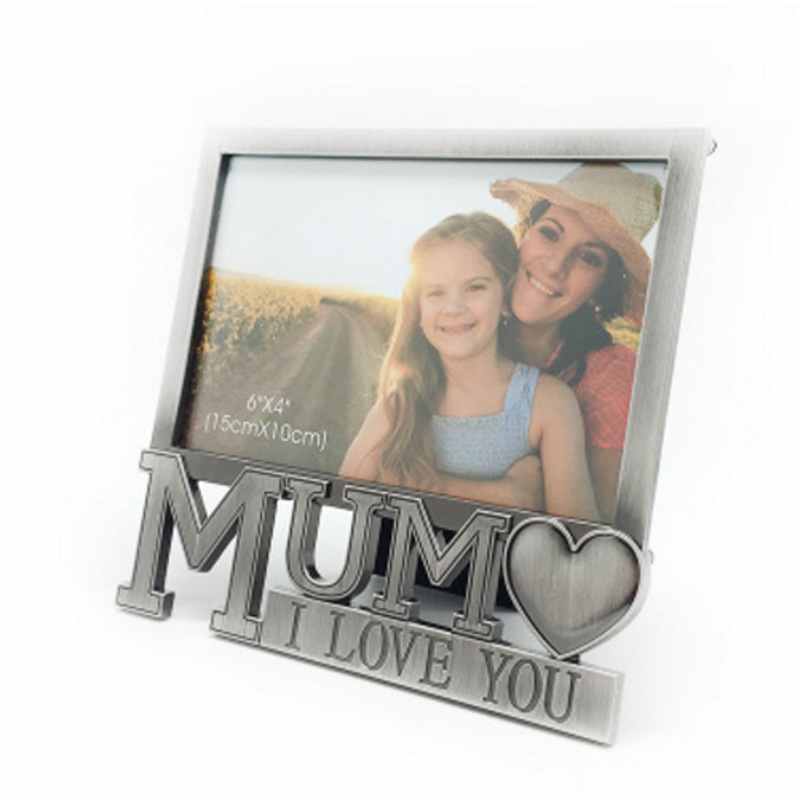 4x6 Metal Picture Frames For Mother's Day Gift Photo Frame 10x15cm Sliver Home Decoration Accessories in Mum's Birthday