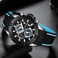 Мини фокус кварцевые часы для мужчин силиконовый ремешок армейские Спортивные Хронограф наручные часы для мужчин часы Relogios Masculino 0244G0. 3