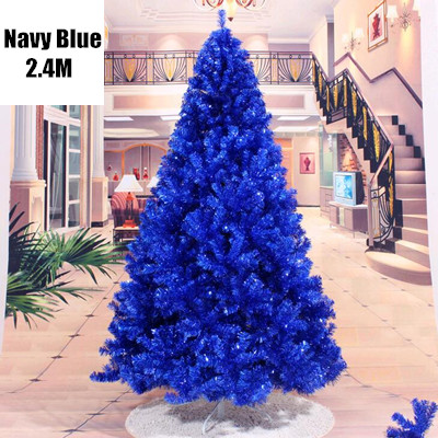 Navy Christmas Ornaments.Us 156 09 15 Off 4 Sizes Christmas Decorations Trees Navy Blue Ornaments Santa Claus Pvc Christmas Tree Free Shipping Mcc258 266 In Trees From Home
