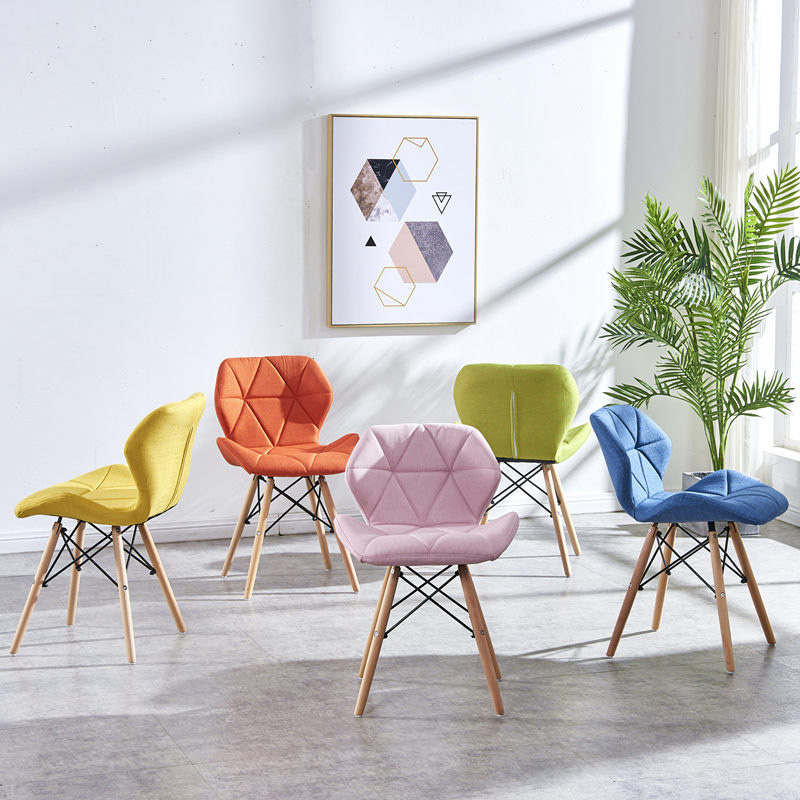 Современный минималистичный стол компьютерный стул домашний Ресторан обеденный стул из твердой древесины скандинавский диван спинка макияж пляж