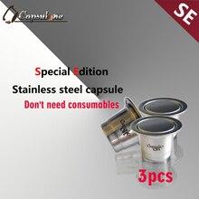 Здесь можно купить   capsulone compatible capsule for nespress ocoffee machine/espresso reusable coffee capsule/ sticker lids refillable capsules Kitchen,Dining & bar