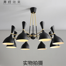 Modern Led Iron Nordic Restaurant Chandelier Black/white Pendant Lamp Bedroom Living Room Lighting Hanglamp Hanging Lamp Fixture pendant lights led lamp modern hanglamp aluminum remote control dimming hanging lighting fixture living room kitchen restaurant