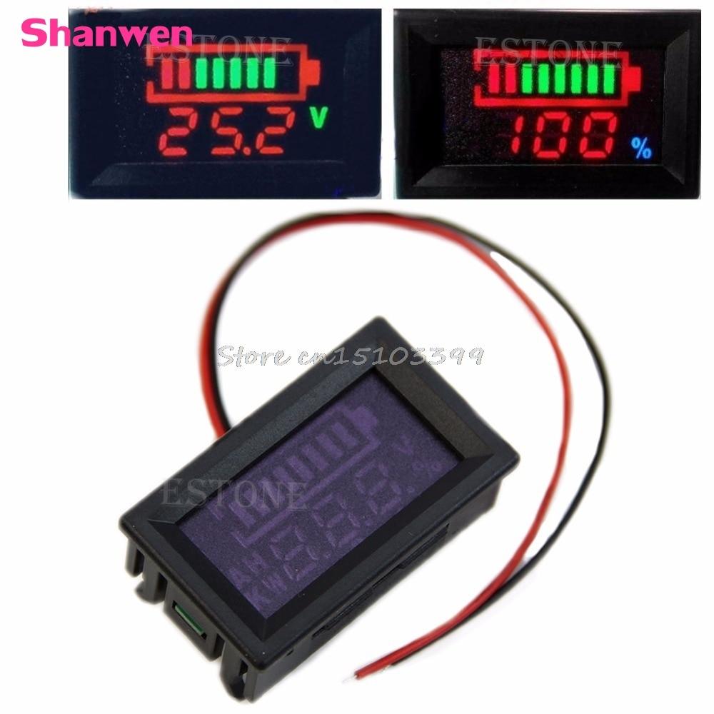 12V Acid lead batteries indicator Battery capacity digital LED Tester voltmeter G08 Drop ship