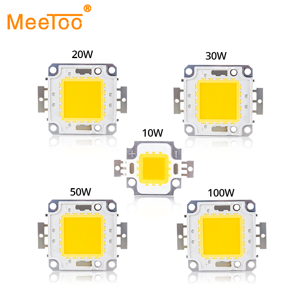 Cold Warm White 10W 20W 30W 50W 100W LED Light Matrix COB Integrated LED Lamp Chip SMD DC 10V-32V DIY Floodlight Spotlight Bulb(China)