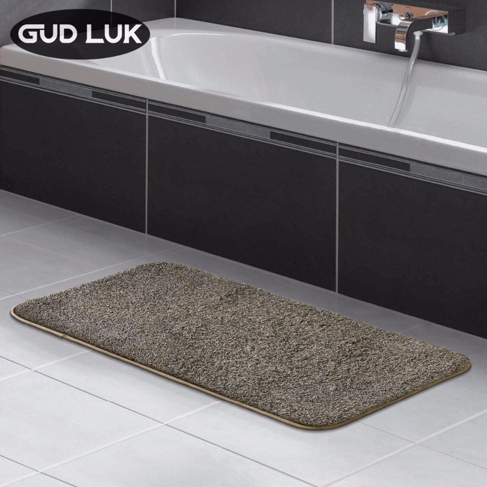 Anti-slid Bathroom Mats TPR non-slip mat Mixed color regenerated cotton tufted Mats Solid bathroom strong water absorpt 50X80CM