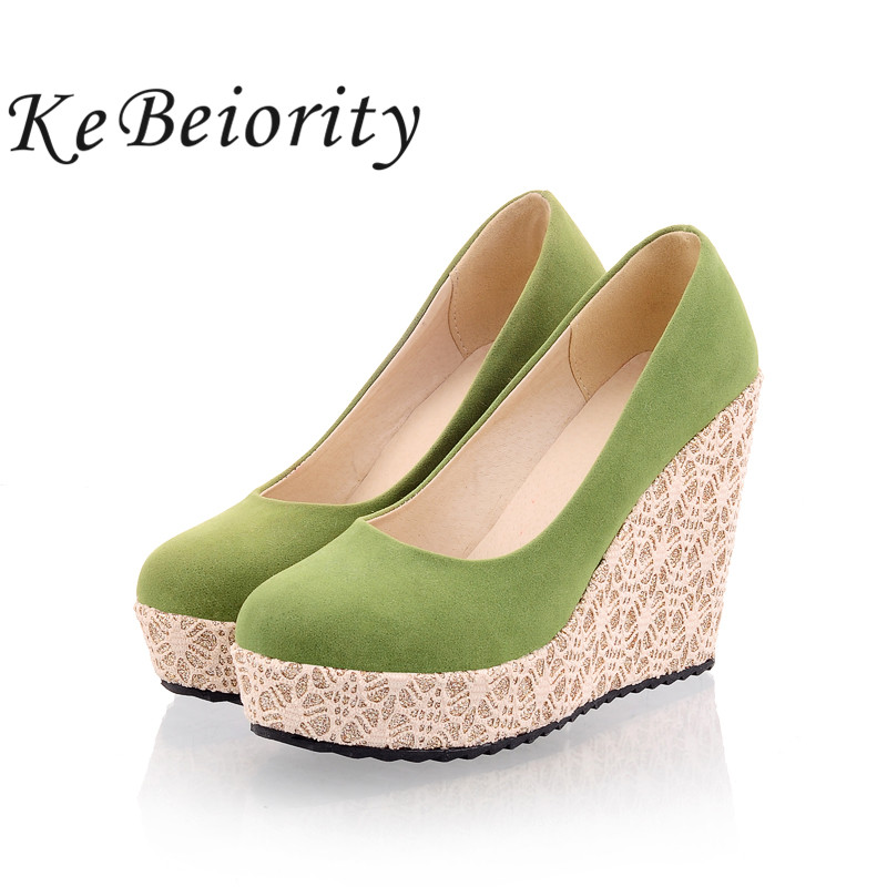zapatos mujer 2017 women shoes black wedges green ladies ...