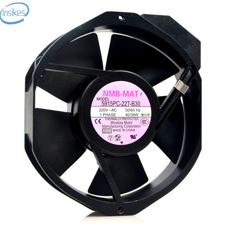 Original 5915PC-22T-B30 Computer Blower Cooling Fan AC 220V 40/38W 17238 172*150*38mm 3200RPM 50/60HZ personal computer graphics cards fan cooler replacements fit for pc graphics cards cooling fan 12v 0 1a graphic fan