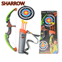 1Set Kids Bow with Arrow Set Safe Children Junior Archery Target Practice Gift  Toxophily For Toy Accessories