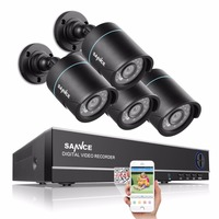 SANNCE 4CH CCTV System H 264 1080N 4IN1 DVR 4pcs 720P Waterproof IR Outdoor CCTV Cameras