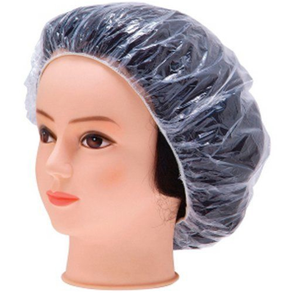 NEW Household 10pcs Hair Salon Disposable Clear Spa Hair Salon Home Shower Bathing Elastic Disposable Cap Travel Accessories