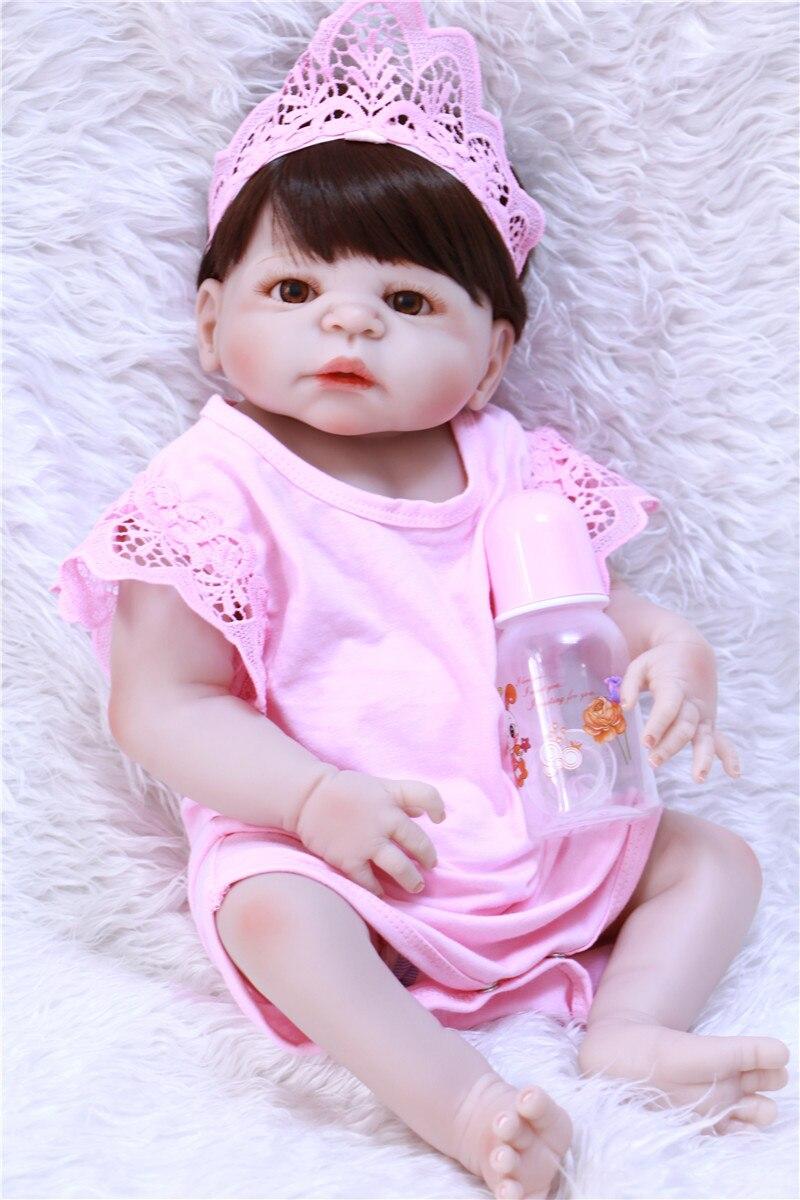 Полный Средства ухода за кожей силикона возрождается младенцев Детские игрушки куклы Reborn розовая принцесса куклы для детей подарок на день рождения подарок прекрасный Обувь для девочек Brinquedos - 2