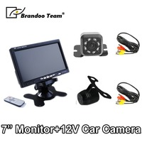 Truck 7 Inch Stand Monitor Screen with 12V Car Camera Rear View Reverse Backup Camera Parking Kit