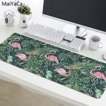 MaiYaCa Flamingo mouse Pad 800x300mm pad to Mouse Notbook Computer Mousepad Cool Gaming Mouse Pad Gamer to Laptop For leaf
