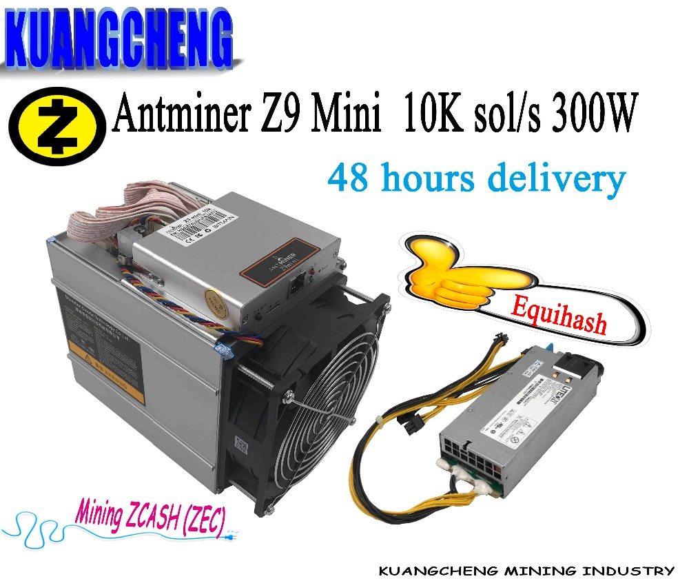 KAUNGCHENG ZCASH Asic Antminer Z9 Mini hash 10 k (avec alimentation) BITMAIN z9 zec BTC Mineur sur Equihash nicehash Livrer DHL ems aucun impôt