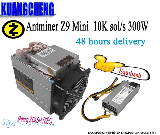 KAUNGCHENG ZCASH Asic Antminer Z9 Mini hash 10k (with psu) BITMAIN z9 zec BTC Miner on Equihash nicehash Deliver DHL ems no tax