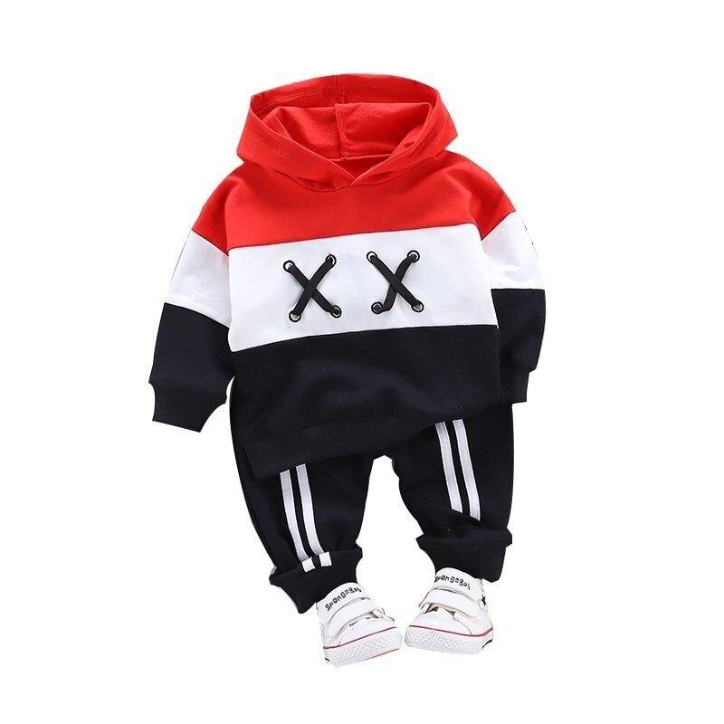 Spring Autumn Children Cotton Clothing Suit Baby Boys Girls Clothes Kids Sport Hoodies Pants 2Pcs/Sets Fahion Toddler Tracksuits