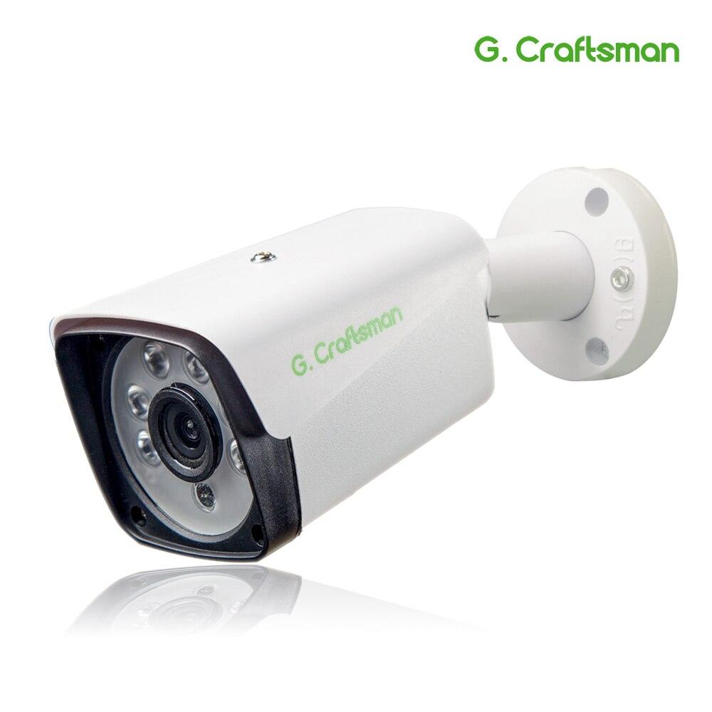 G. artisan 5MP POE HD IP caméra extérieure étanche infrarouge Vision nocturne Onvif 2.6 CCTV vidéosurveillance sécurité P2P Email