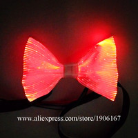 Colorful Led Fiber Optic Luminous Bow Ties Men Women Glowing Light Up Party Necktie Christmas Halloween Event Illuminated Wears