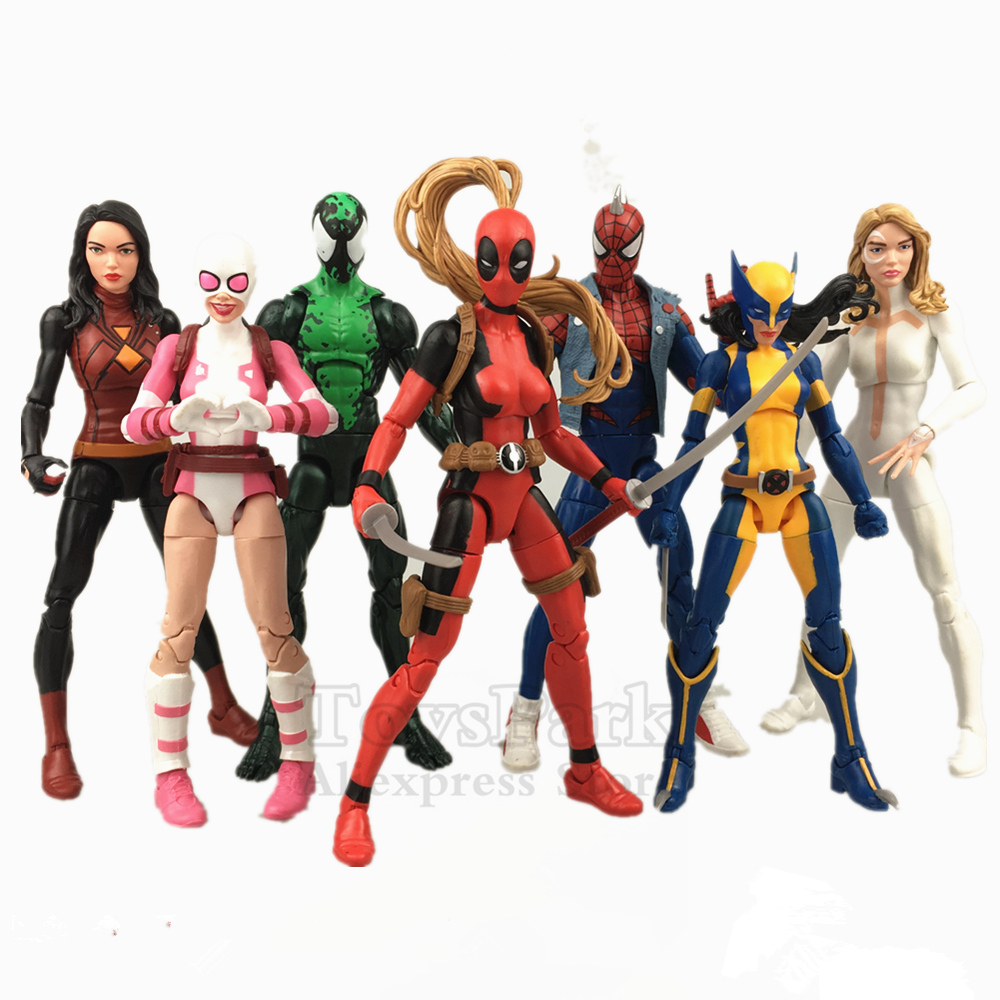 Marvel Legends 6 Action Figure Deadpool Lady Punk Spiderman Scarlet Spider man Gwenpool X MAN X 23 Lasher Dagger Original SALESMarvel Legends 6 Action Figure Deadpool Lady Punk Spiderman Scarlet Spider man Gwenpool X MAN X 23 Lasher Dagger Original SALES