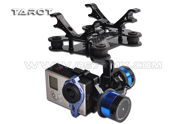 Tarot T-2D Brushless Gimbal Gopro Hero 3 PTZ Mount 2 Axis Gimbal Bracket TL68A08 for Brushless Camera Gimbal Aerial Photography dji phantom 2 build in naza gps with zenmuse h3 3d 3 axis gimbal for gopro hero 3 camera