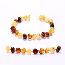 Baltic Amber Bracelet for Adult – Simple Package – Lab-Tested Authentic – 2 Sizes – 10 Colors
