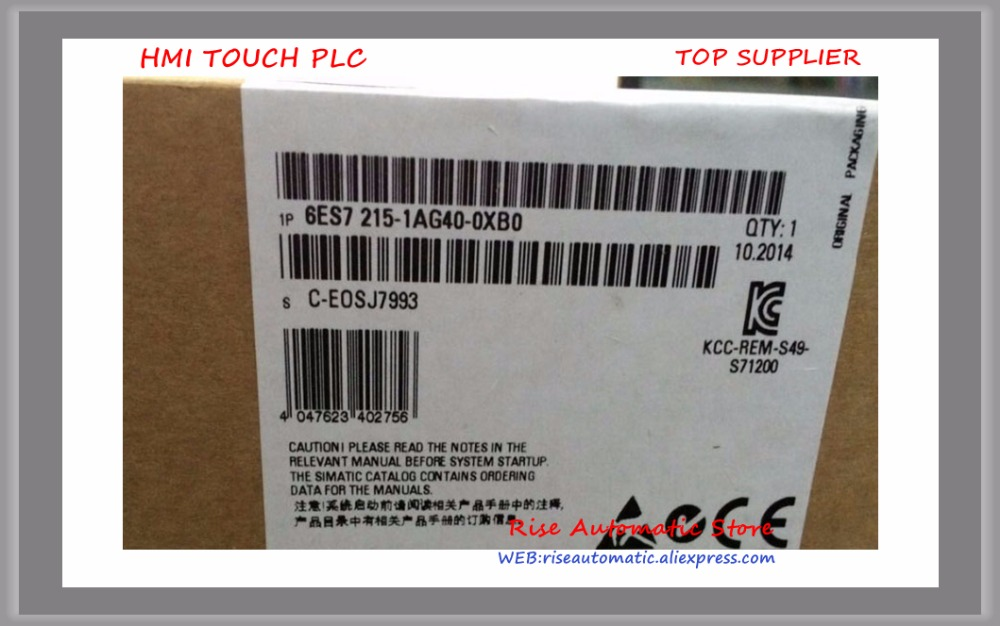 New original PLC 6ES7215-1AG40-0XB0 6ES7 215-1AG40-0XB0 S7-1200 CPU PLC REPLACE 6ES7215-1AG31-0XB0 in box 14 DI 24V DC 10 DO s plc 6es7214 1ad23 0xb0 new in box