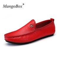 MangoBox Fashion Mens Drive Shoes New Luxury Brand Designer Men Shoes Flats Casual Men Sneakers Cheap
