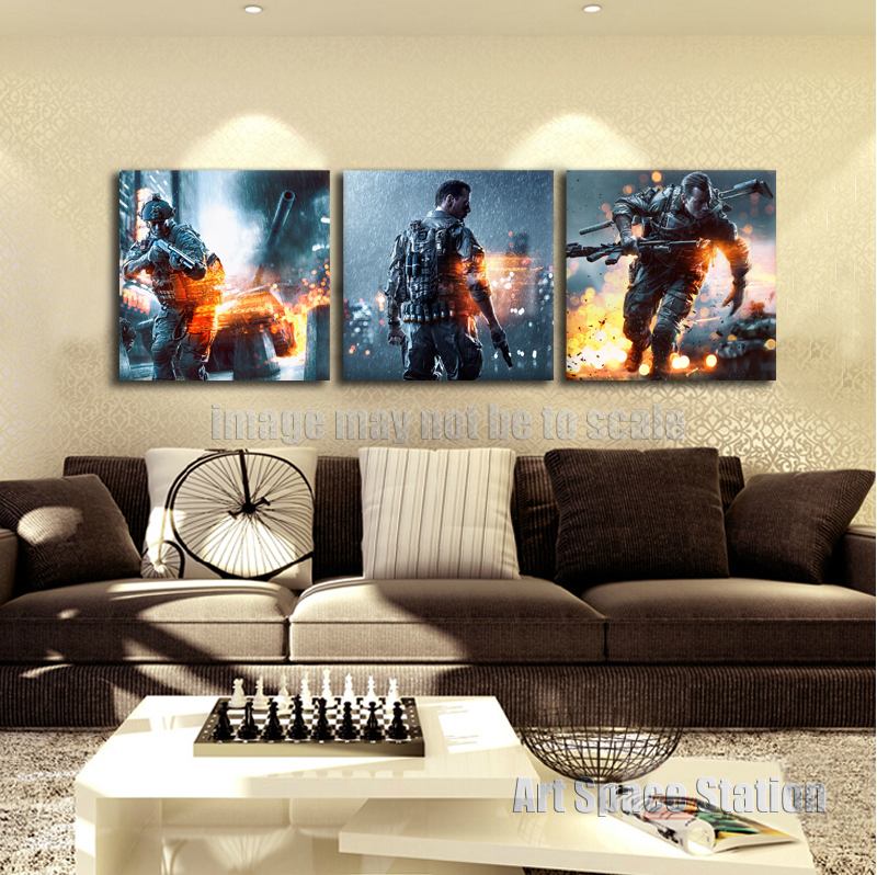 Battlefield 4 poster run video game daniel recker dice ea for Living room 94 game