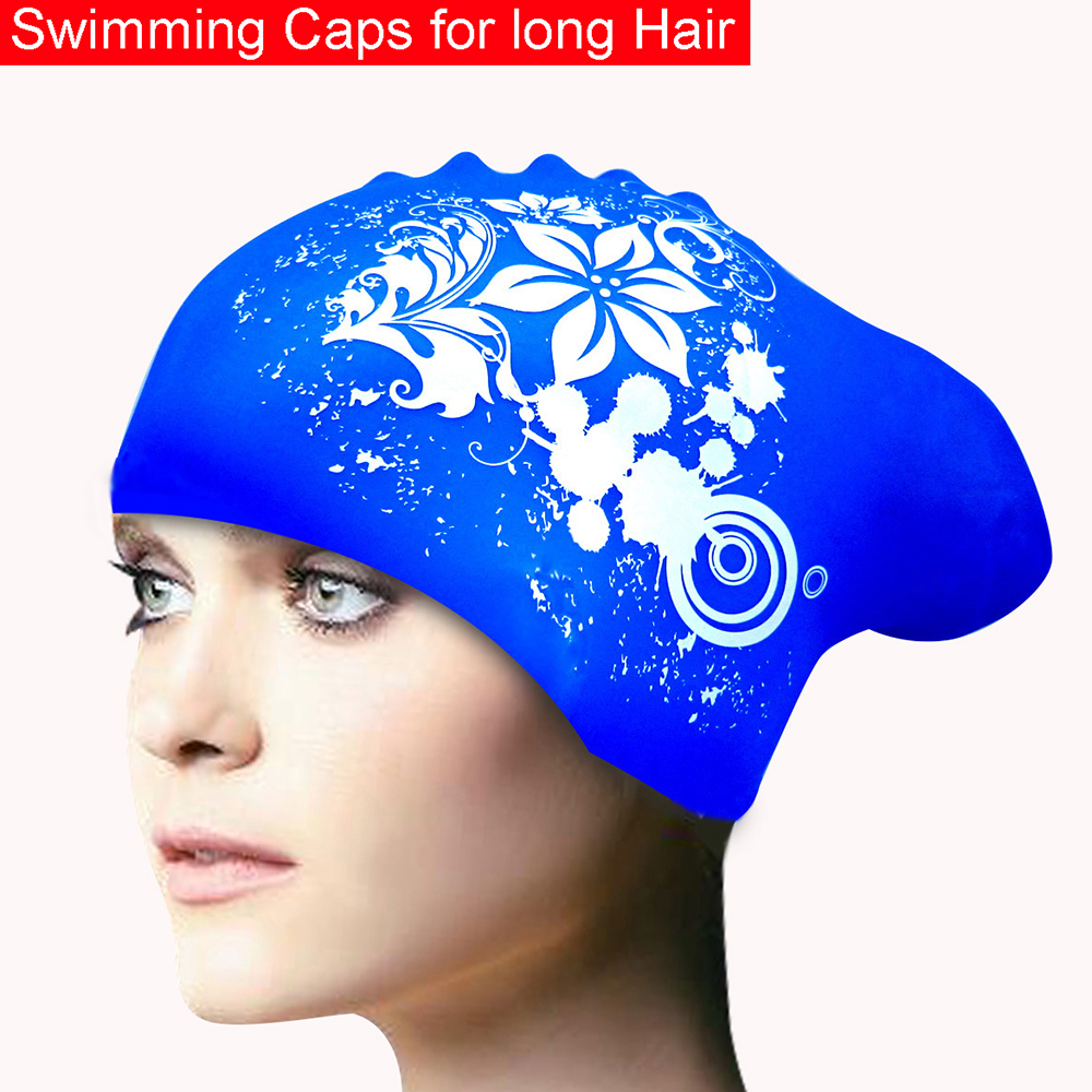 100% Silicone Swimming Cap for Long Hair Women's Waterproof Swim Caps Ladies Diving Hood hat for kids garras natacion casquette ai lianxin long hair surgical cap for long hair doctors and nurses 100% cotton bouffant caps