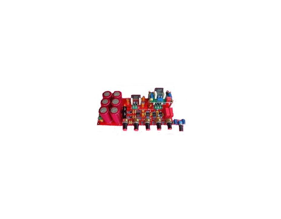 4-1 Kanal LM4780 Verstärker Fertige Board AC 24 V-28 V 4X68 Watt + 130 Watt Subwoofer