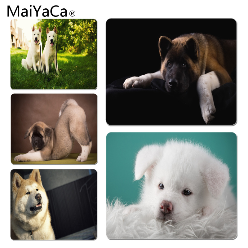 MaiYaCa New Design Akita Dog Computer Gaming Mousemats Size for 18x22cm 25x29cm Rubber Mousemats