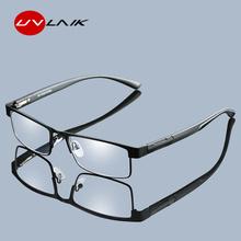 UVLAIK mężczyźni okulary do czytania ze stopu tytanu nie sferyczne 12 warstwy powlekane Retro biznes nadwzroczność okulary korekcyjne tanie tanio Unisex Jasne MIRROR 3 0cm Z poliwęglanu 5 3cm 200002198 200002146 4041 with UVLAIK cloth
