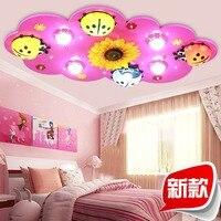 Детская комната огни для мальчиков и девочек светодиодный потолочный светильник творческий мультфильм жук спальня лампа Дети освещение ко