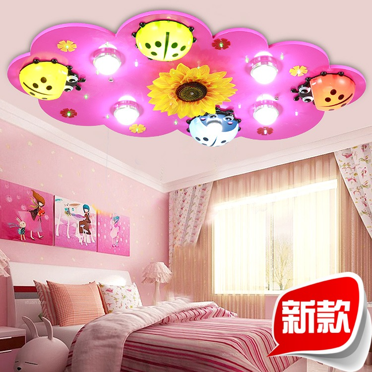 Children S Room Lights Boys And Girls Led Ceiling Light Creative Cartoon Beetle Bedroom Lamp Kids Room