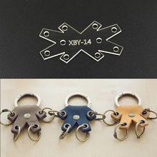 309980a5a 1 piezas de acrílico DIY de cuero creativo llavero plantilla Leathercraft