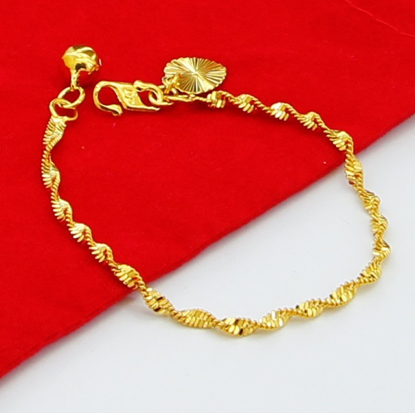 JH025 24k gold plated baby bracelet bangles new jewelry
