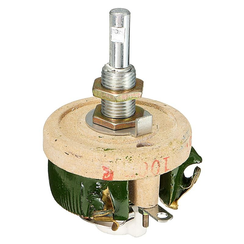 Best Price 25W 100 OHM High Power Wirewound Potentiometer, Rheostat, Variable Resistor Natural cooling variable resistor wire wound rheostat 50w 20 ohm 20ohm