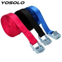 YOSOLO 5 м автомобильный Натяжной веревочный багажный фиксированный ремень, грузовой багажник на крышу, крепежные ремни, стяжной ремень с пряжкой