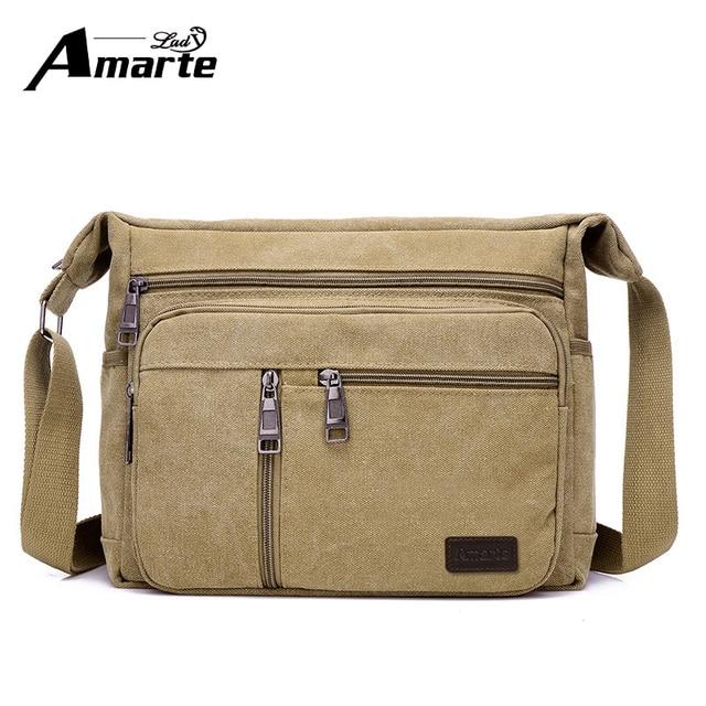 a7fc44551ac7 Men Bags Vinatge Canvas Messenger Bags 2017 Designer Brand Men s Fashion  Crossbody Shoulder Bag Solid Male
