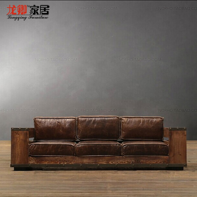 Awe Inspiring American Retro Style Wrought Iron Wood Sofa Loft Industry To Machost Co Dining Chair Design Ideas Machostcouk