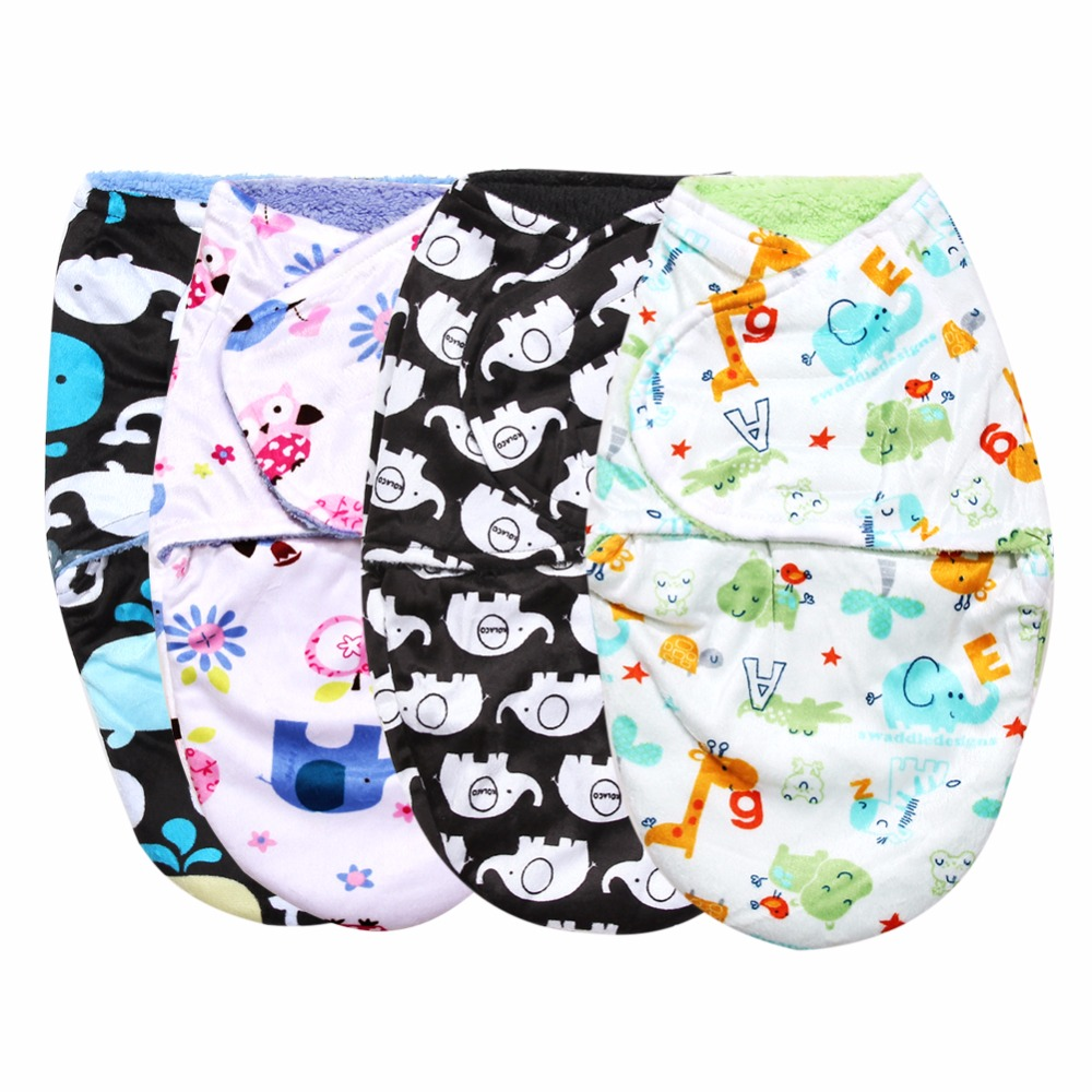 Double-Layer-Sleeping-Bag-Baby-Short-Plush-Swaddling-Clothes-Newborn-Sleep-Sacks-Warm-Clothes-Girl-Boys-1
