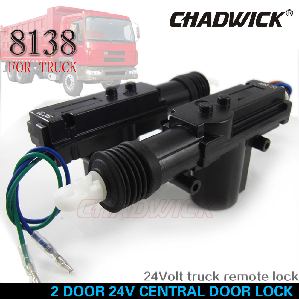 24V for truck 2 door Central Door Lock locking system Auto Remote control Vehicle Keyless Entry System Universal CHADWICK 8138 in Burglar Alarm from Automobiles Motorcycles