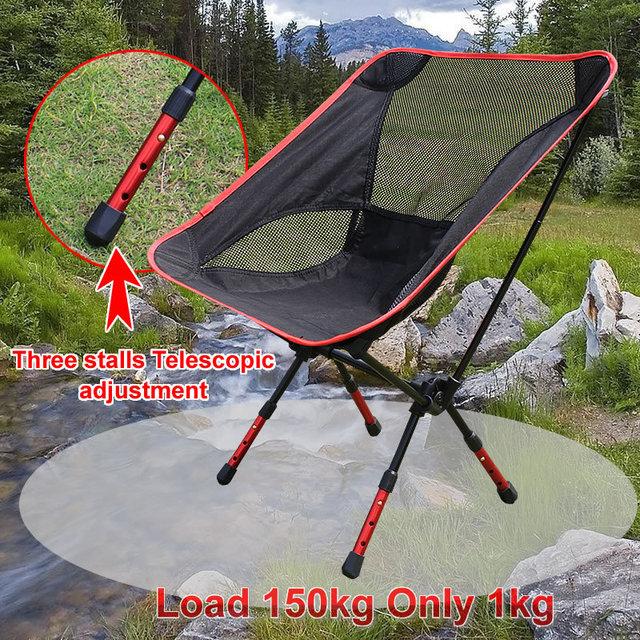 Respirável Ao Ar Livre Portátil Dobrável Camping Stool Assento Da Cadeira para Pesca Festival Picnic CHURRASCO Praia com Saco Ultra-leve